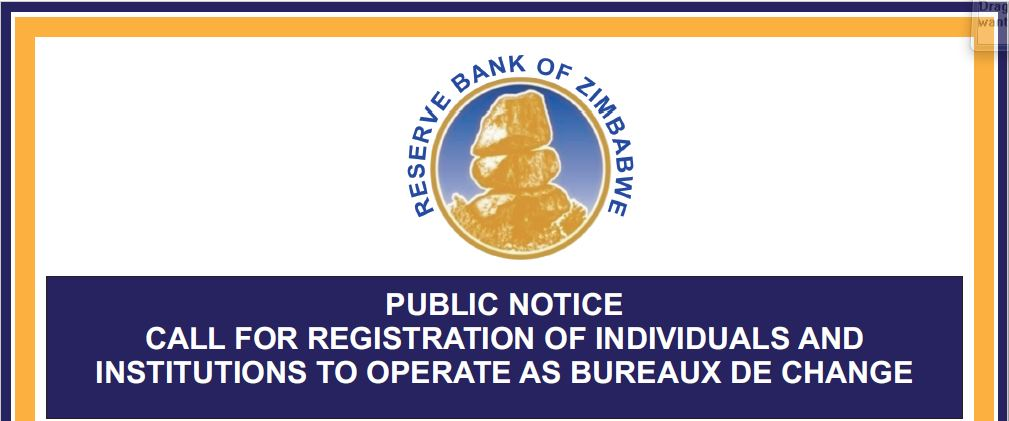 RBZ Invites Companies and Individuals To Register For Bureaux De