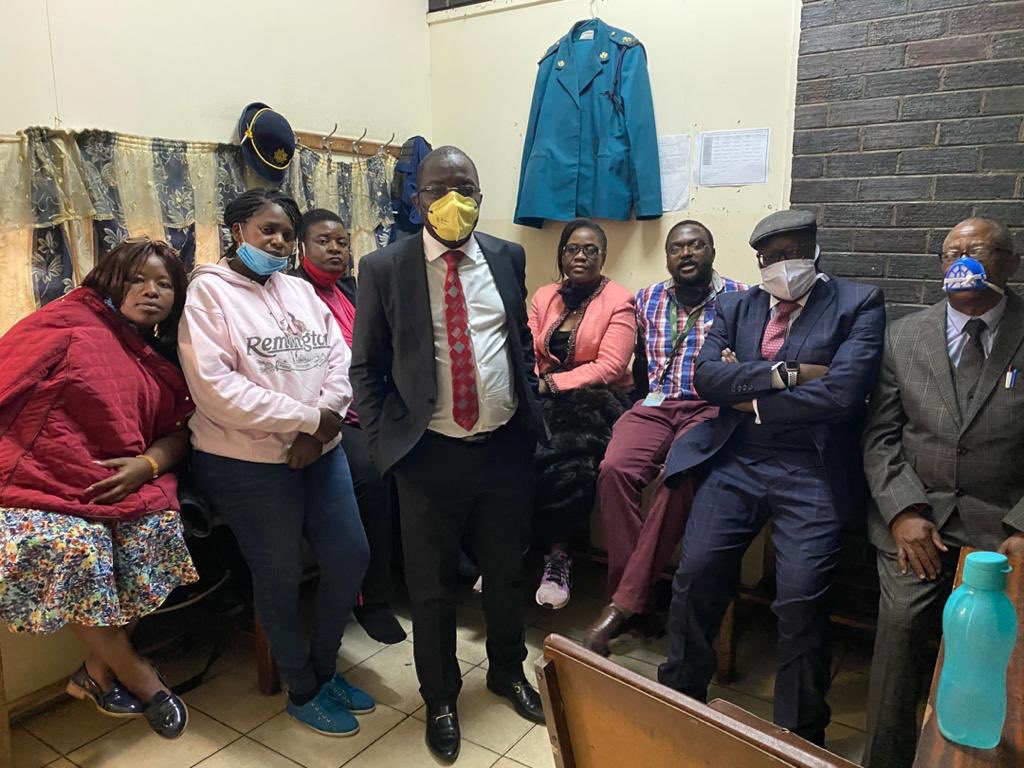 MDC Alliance Leaders Arrive At Rotten Row Magistrates Court