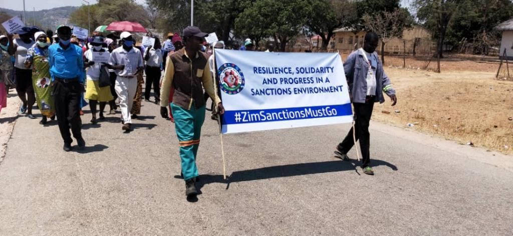WATCH: Anti-Sanctions Protest In South Africa